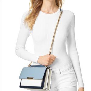 Michael Kors Large Gusset Leather Shoulder Bag